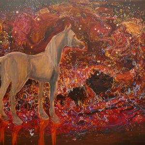 Electric Horse, 130 x 180 cm, oil on canvas, 2019