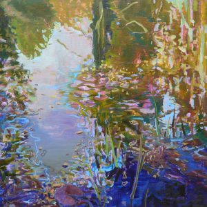 Pond # 12, 85 x 95 cm, oil on canvas, 2019