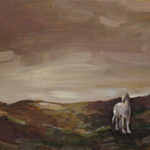 Duinen - Paard, 20 x 30 cm, oil on wood, 2019