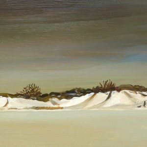 Duinen - Glijbaan, 22 x 52 cm, oil on wood, 2019