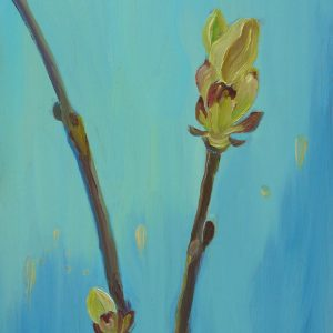 Spring # 5 (chestnut), 30 x 20 cm, oil on wood, 2019