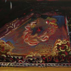 Carpet, 17 x 20 cm, oil on perspex on wood, 2020