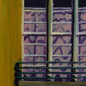Curtain # 2, 20 x 17 cm, oil on perspex on wood, 2020