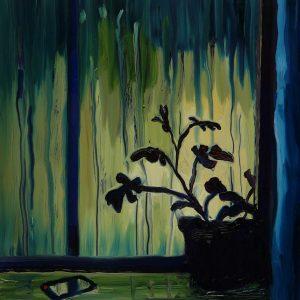 Glow, 20 x 17 cm, oil on perspex on wood, 2020