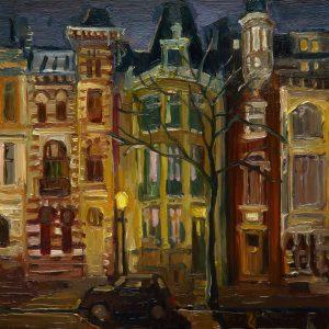 Dark Days – Roemer Visscher Amsterdam, 20 x 17 cm, oil on perspex on wood, 2021