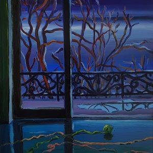 View - Yarn, 20 x 17 cm, oil on perspex on wood, 2021