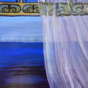 Breeze - Ocean, 20 x 17 cm, oil on perspex on wood, 2021